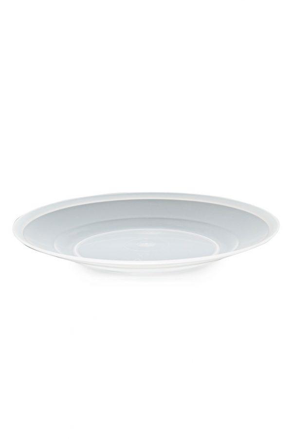 Assiette plate translucide réutilisable